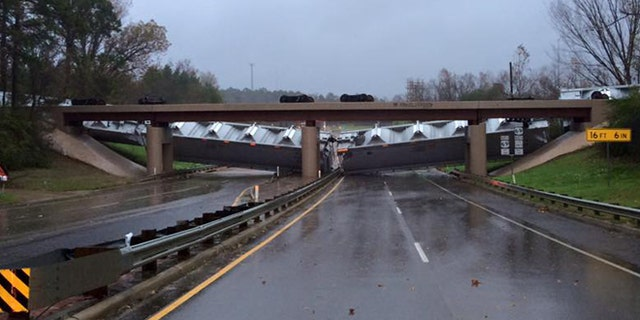 Winds in excess of 41 mph toppled several empty train cars in Texas.