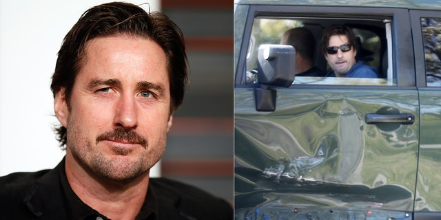 Luke Wilson was spotted arriving home in his wrecked SUV following a deadly car crash on Tuesday in Los Angeles. He was hailed as a hero in the crash.