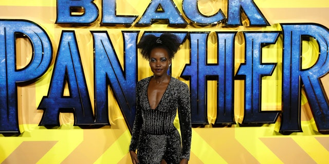 Actor Lupita Nyong'o arrives at the premiere of the new Marvel superhero film 'Black Panther' in London, February 8, 2018.