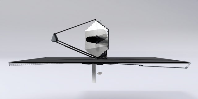 An artist's depiction of the proposed LUVOIR space telescope that could be used to directly image exoplanets.