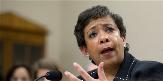 Attorney General Loretta Lynch testifies on Capitol Hill in Washington, Wednesday, Feb. 24, 2016,before the House Commerce, Justice, Science, and Related Agencies subcommittee hearing on the Justice Department's fiscal 2017 budget request.  (AP Photo/Manuel Balce Ceneta)