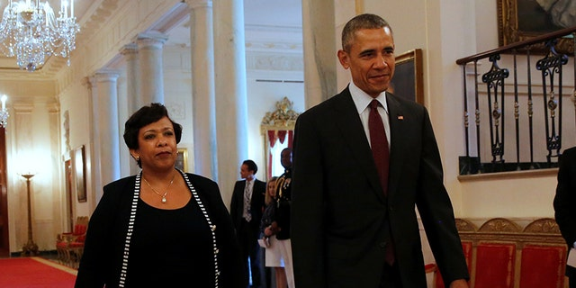 Lynch was nominated by President Barack Obama, right.