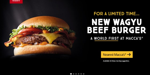 """McDonald's Australia debuted the burgers Wednesday, touting the item as a """"world first limited edition burger."""""""