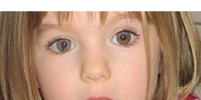 """Madeleine McCann is seen here in a 2007 photo that seeks to bring attention to the distinctive dark """"smudge"""" within the iris of her right eye."""