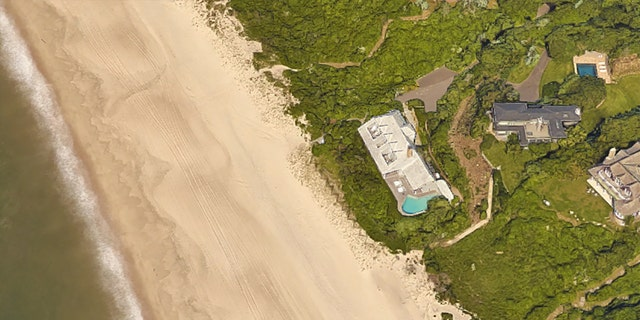 Madoff's former home in Montauk boasts 180 feet of coastline, and sits closer to the beach than its nearest neighbors.