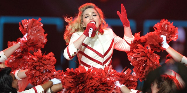 """Oct. 10, 2012: Madonna performs on the """"MDNA"""" tour at Staples Center in Los Angeles."""