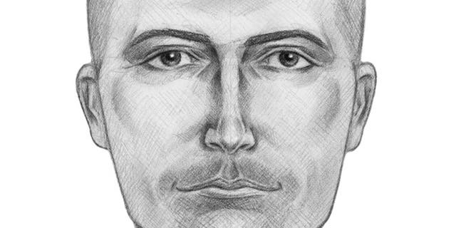 A sketch of one of the suspects.