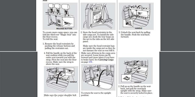 The 2004 Odyssey owner's manual describes the proper way to fold the third row seat into the bin to create a flat load floor.