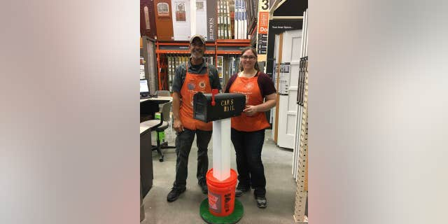 Two Home Depot Employees Show Off Cameron S Mailbox