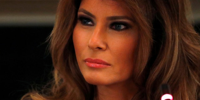 First lady Melania Trump is scheduled to appear at a White House event on Monday evening.