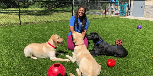 The facility also boasts great kennel techs, like Heather Reeves.