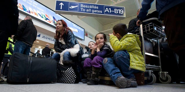 Feb. 2, 2012: Stranded passengers wait for information at terminal 2 of Liszt Ferenc International Airport Budapest, Hungary, after Hungarian airline Malev stopped all its services and grounded all flights after its financial situation became unsustainable.