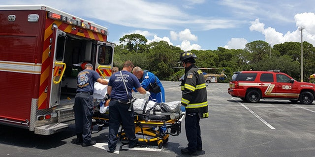 The 50-year-old victim was flown to a hospital in Lee County.
