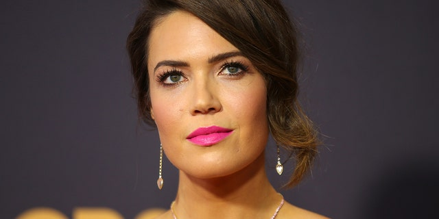 'This is Us' actress Mandy Moore gave birth to son August, as announced on her Instagram on Tuesday.