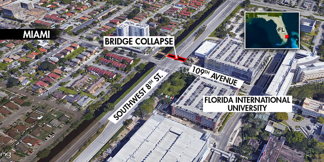Last week's bridge collapse happened adjacent to many buildings on Florida International University's campus.