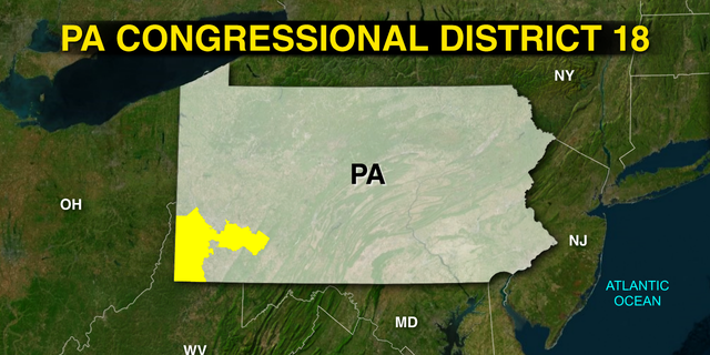 Pennsylvania's 18th congressional district in the southwest part of the state includes portions of Allegheny County, Greene County, Washington County, and Westmoreland County.