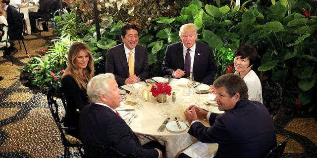 """Trump entertained Japanese President Abe and his wife at Mar-a-Lago in Feb. 2017, shortly after a previous state inspection cited one of the kitchens for the intent to serve raw fish that had """"not undergone proper parasite destruction."""""""