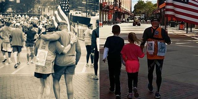 Navy veteran Sid Busch runs marathons to honor fallen service members.
