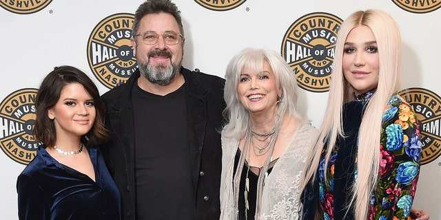Musicians Maren Morris, Vince Gill, Emmylou Harris and Kesha attend the Country Music Hall of Fame and Museum's 'All for the Hall' Benefit on February 13, 2018 in New York City.