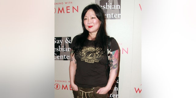 """May 10, 2014. Margaret Cho arrives at The L.A. Gay and Lesbian Center's Annual """"An Evening With Women,' at The Beverly Hilton in California."""