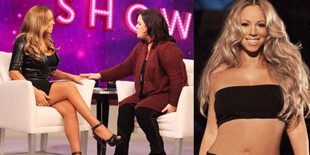 Mariah Carey went on Rosie O'Donnell's show to talk about her weight loss and her Jenny Craig deal.