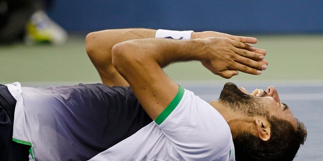 Sept. 8, 2014: Marin Cilic, of Croatia, reacts after a defeating Kei Nishikori, of Japan, during the championship match of the 2014 U.S. Open tennis tournament in New York.