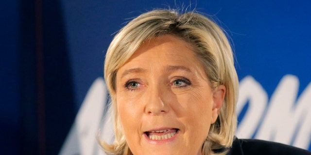 Far-right leader and candidate for next spring presidential elections Marine le Pen.