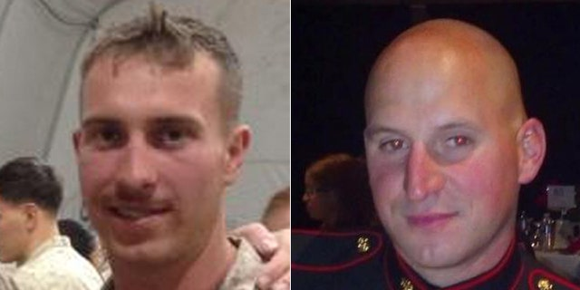 Sgt. Carson Holmquist, of Grantsburg Wisc.,(l.), and Staff Sgt. David Wyatt, of Chattanooga, (r.), were gunned down Thursday.