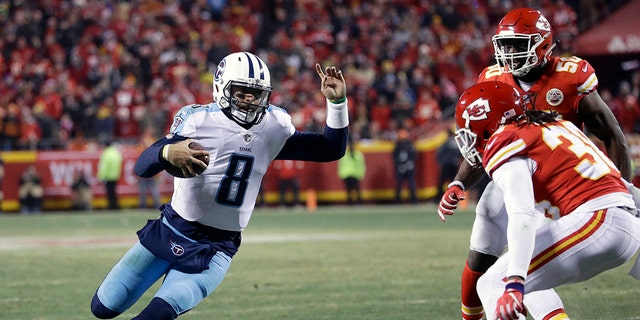 Marcus Mariota threw for two touchdown passes -- one of them to himself.