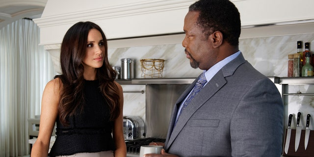 """Markle and Pierce appear in """"Suits"""" season seven episode, """"Donna."""""""
