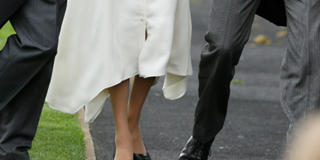 The Duchess of Sussex strolled through the Ascot gowns while showing off her all white Givenchy look.