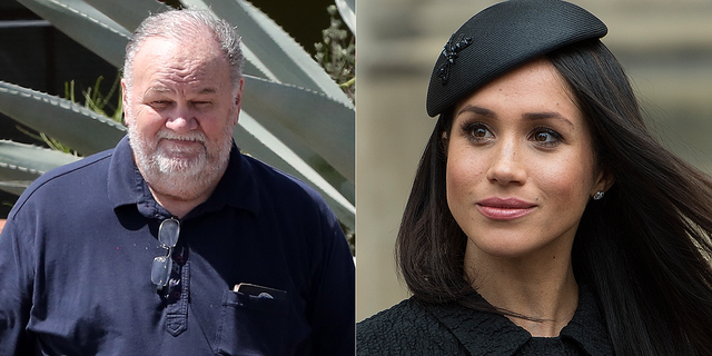 Thomas Markle (left) is currently estranged from daughter Meghan (right).