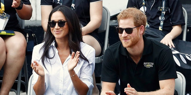 Meghan Markle and Prince Harry spotted at the Invictus Games for the first time together.
