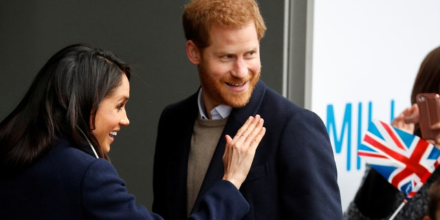 Meghan Markle and Prince Harry in Birmingham, England.