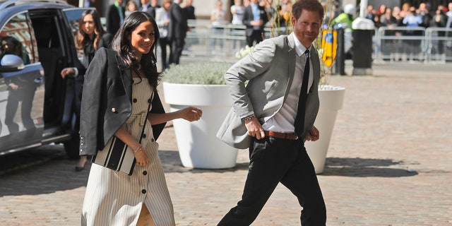 Markle and Harry together in London prior to Commonwealth event.