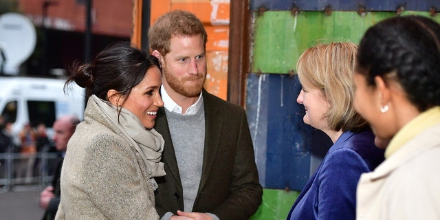 Meghan Markle and Prine Harry visited a radio station in London, England.