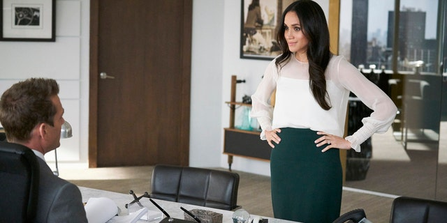 "Meghan Markle as Rachel Zane in ""Suits."""