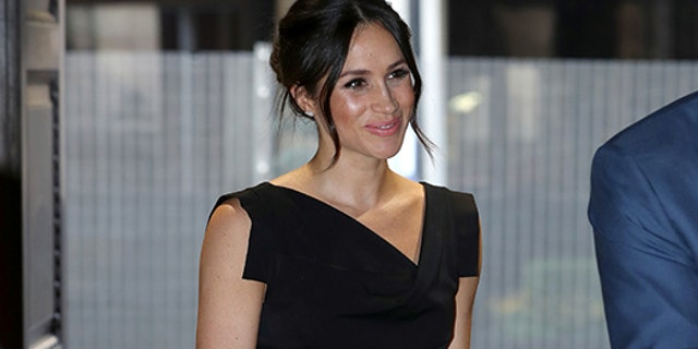 Markle stepped out in one of her favorite brands, Aquazzura, at the Women's Empowerment reception in April.