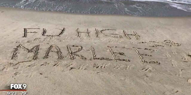 Supporters brought the beach to Marlee after her health began to deteriorate.