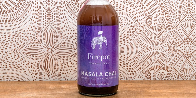 Firepot's 32 oz. Masala Chai concentrate is spicy and intense.