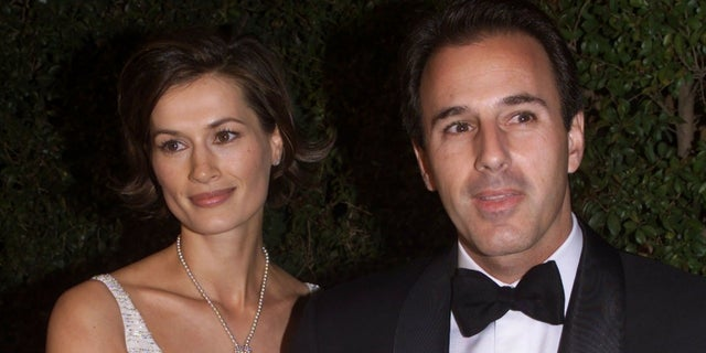Matt Lauer and his wife Annette Roque.