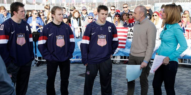 """Matt Lauer and Savannah Guthrie helped represent """"Today"""" during the 2014 games."""