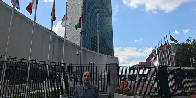 Lee outside the U.N. on Thursday