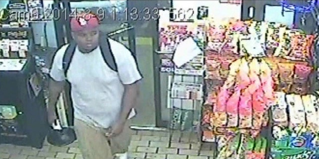 Hours before Michael Brown's fatal confrontation with a police officer in Ferguson, Mo., he was seen on a surveillance camera in a nearby store.