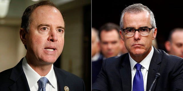 """Rep. Adam Schiff, D-Calif., said on Sunday that the firing of former FBI Deputy Director Andrew McCabe """"may have been justified."""""""