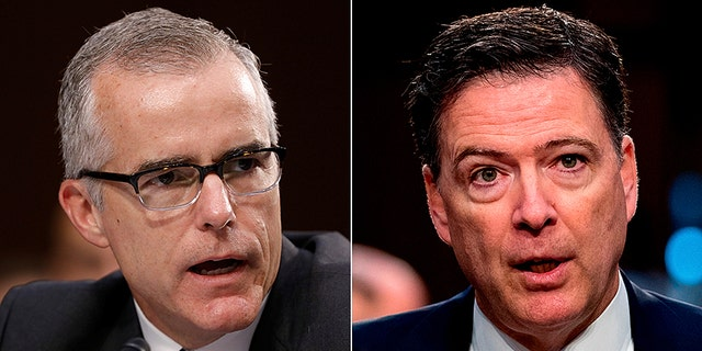 Former FBI Deputy Director Andrew McCabe and former FBI Director James Comey are among those whose conduct is being reviewed in Justice Department Inspector General Michael Horowitz's report.