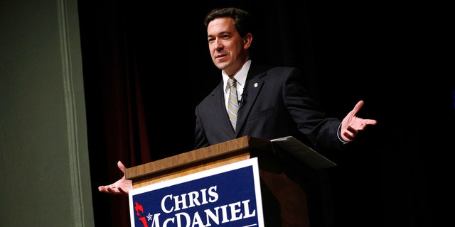 March 18, 2014: Mississippi state Senator Chris McDaniel speaks during a town hall meeting in Ocean Springs, Mississippi.