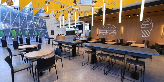 The McDonald's in Olympic Park can seat 160 guests.