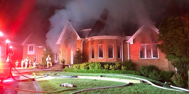 A house in Clarksville, Md. was possibly struck by lightning.