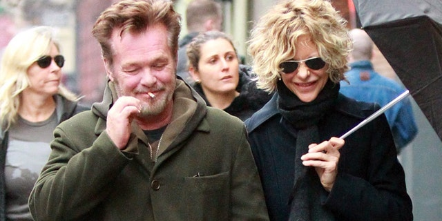 Meg Ryan shared some laughs with rockstar John Mellencamp on a wet, romantic stroll in New York City. on Saturday, January 11, 2014 X17online.com